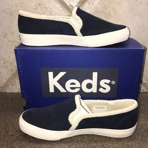 🆕Keds Navy Double Decker Suede SlipOn Sneakers
